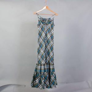[Gap] plaid cotton maxi dress